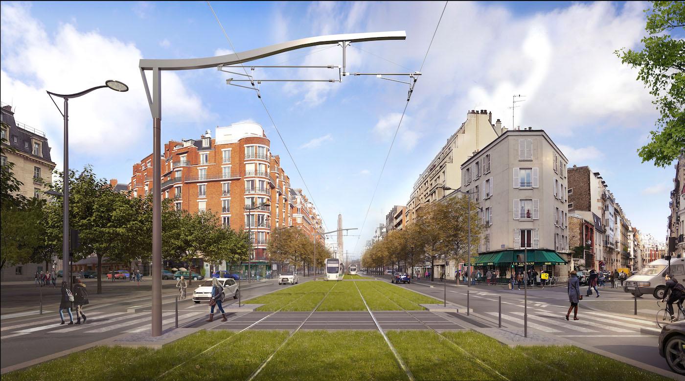 Perspective sur le boulevard Gouvion Saint-Cyr
